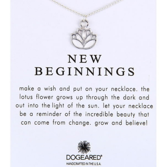Jewelry New Beginnings Silver Lotus Necklace Gift Card Poshmark